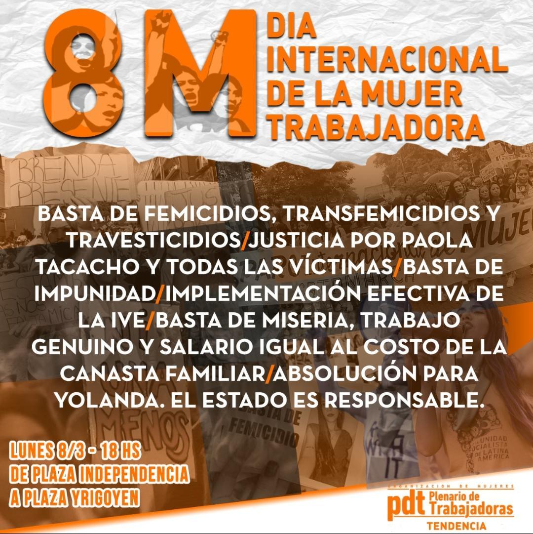 Día de la Mujer| Una jornada de protesta y reclamos en contra de las violencias machistas