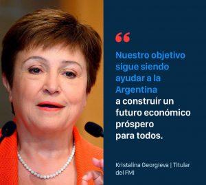 """FMI   """"Nuestro objetivo sigue siendo ayudar a la Argentina"""