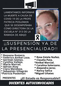 Otra docente muere en Tucumán