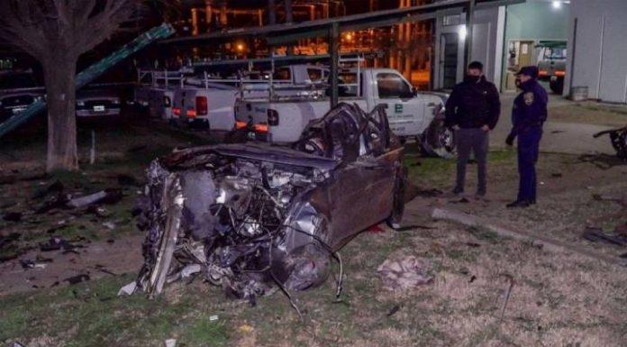 Terrible vuelco   Un cuñado de Agustín Calleri murió junto a tres amigos en un accidente