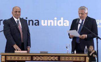 Manzur juró como nuevo Jefe de Gabinete de la Nación